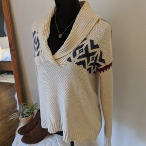 Chaps Cream Knitted Sweater